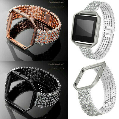 AU25.30 • Buy For Fitbit Blaze Smart Watch Bling Diamond Shiny Band Straps Wrist Replacement