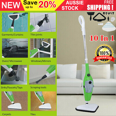 10 In 1 1500W Hot Steam Mop Cleaner Floor Carpet Window Washer Hand Steamer UK • 29.90£
