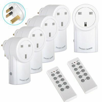 £25.99 • Buy 5 Remote Control Sockets Wireless Switch Home Mains Power Outlet Pack UK Plug