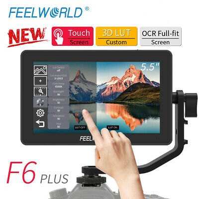 AU201.58 • Buy New FEELWORLD F6 PLUS Monitor 5.5  Inch 3D LUT 4K HDMI Video On Camera For DSLR