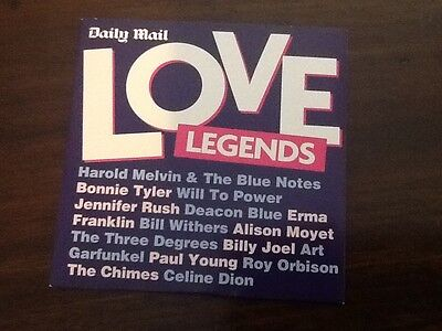 Daily Mail - Love Legends Compilation CD • 1.50£