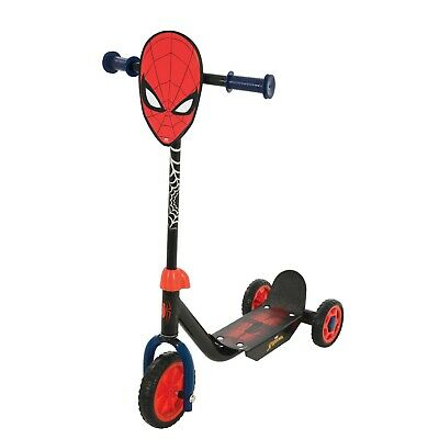 Spiderman Deluxe Children Toddler Adjustable Outdoor Ride-On Push Tri-Scooter • 23.95£