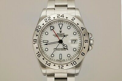$ CDN8940.86 • Buy Rolex Explorer II 16570 White Dial Stainless Steel Watch T Series Polar