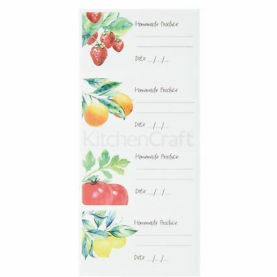 4x Home Made 100 Self-Adhesive Vintage Jar Labels • 8.65£