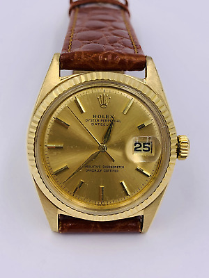 $ CDN8420.58 • Buy Vintage Rolex 18k Gold Datejust 1601 Ref 36mm Men's Watch
