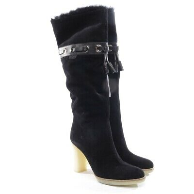 Gucci Boots Size Black Women's Boots Shoes Leather Chaussures New • 383.18£