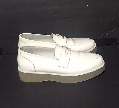 £14.38 • Buy F-Troupe Leather Loafers Clear Rubber Sole White Size 40 / 9US
