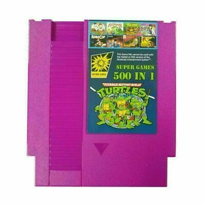 For NES Classic NTSC PAL Consoles 500 IN 1 Super Games Card Collection Cartridge • 11.37£