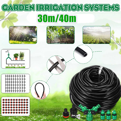 40M Micro Drip Irrigation System Set Automatic Watering Garden Hose Watering Kit • 12£