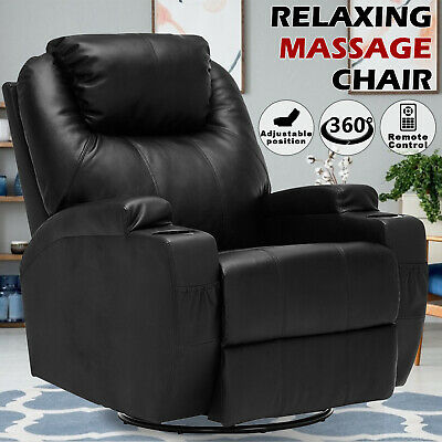 AU445.90 • Buy 8 Point Electric Heated Massage Chair Recliner Lift Sofa Seating Remote Control