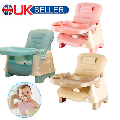 Adjustable 3-In-1 Baby Infant Feeding Seat Toddler Table Chair W/ Leather Pad UK • 19.98£
