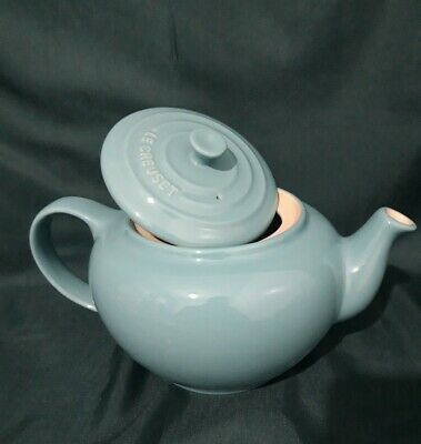 LE CREUSET Classic Stoneware Teapot 1L - Beautiful Light Teal - NEW • 20£