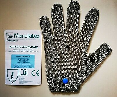 Stainless Steel Chainmail Safety Glove Butcher Chef Ambidextrous Large • 9.70£
