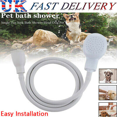 Tap Bath Sink Shower Head Hose Spray Connector For Pet Shower Hair Washing UK • 8.29£