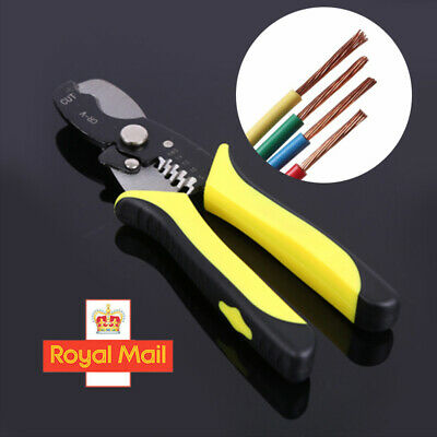 Automatic Cable Wire Crimper Crimping Tool Stripper Adjustable Plier Cutter FAST • 3.99£
