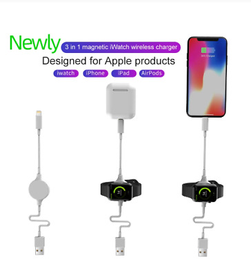 $ CDN12.11 • Buy For Apple Watch IWatch Series 1 2 3 4 Charger Cable USB Magnetic Charging Dock
