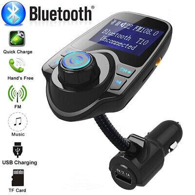 Bluetooth Car Kit FM MP3 Player Transmitter Wireless Radio Adapter USB Charger • 10.85£