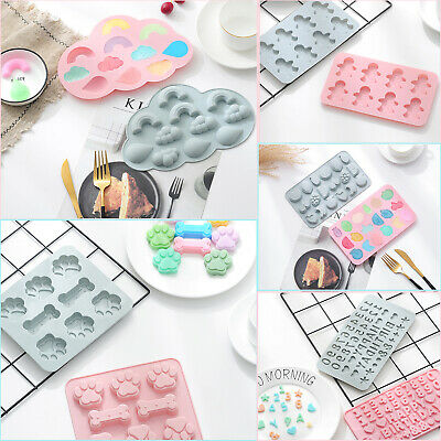 £2.99 • Buy Silicone Baking Mould Cake Jelly Cookies Soap Mold Chocolate Tray Wax Ice Cube