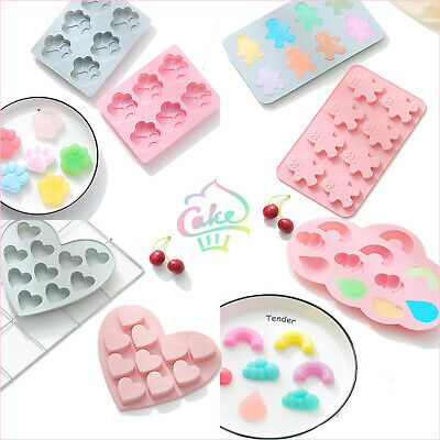 £2.99 • Buy Silicone Mould Baking Cake Jelly Cookies Soap Mold Chocolate Tray Wax Ice Cube