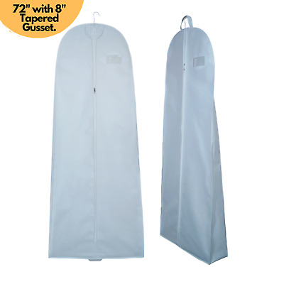 Breathable 72  Long Wedding Dress Cover Prom Bridal Gown Garment Storage Zip Bag • 6.99£
