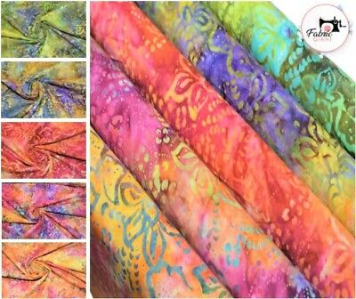 Printed Premium Bali Batik 100% Fabric 44  Wide High Quality 5 Colours • 3.39£