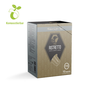 Beo Hive Ristretto Coffee 150 COMPOSTABLE Capsules Compatible With Nespresso (R) • 33£
