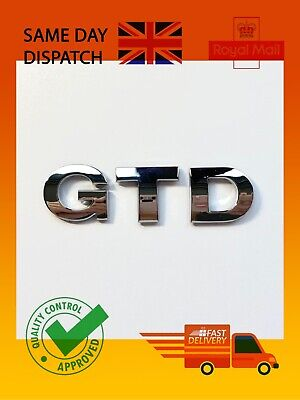 """""""GTD"""" New Chrome 3D Self Adhesive Car Letters Spelling Boot Sticker • 4.85£"""