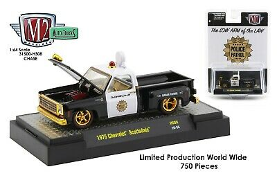 $ CDN51.02 • Buy 1:64 M2 Machines *HOBBY EXCLUSIVE* 1976 Chevrolet Scottsdale POLICE *CHASE* NIP