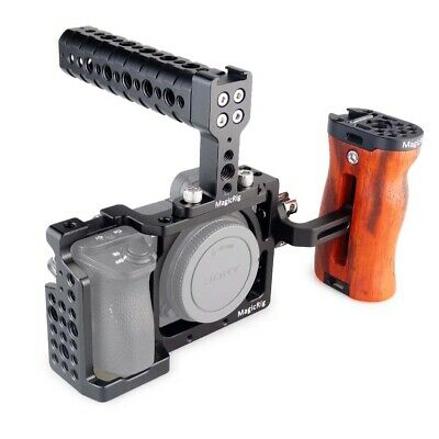 $ CDN111.58 • Buy MAGICRIG Camera Cage Kit With Top Handle Wooden Handle FOR Sony A6400/A6500 Etc.