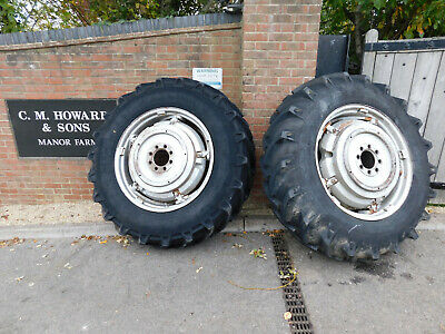 16.9/34 Pavt Tractor Wheels Tyres From Mf Massey Ferguson 185 188 290 590 • 450£