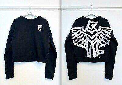 BOY LONDON Black Sweatshirt With Embroidered Back And Front Logo - Size S (NWOT) • 30£
