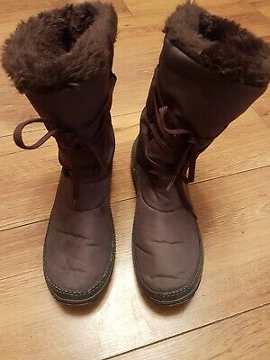 Pavers Women's Brown Satin Mid Calf Boots UK Size 5 EU 38 • 5.70£