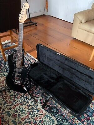 $ CDN360.52 • Buy Modded/Upgraded Blacktop HSH Squier Electric Guitar W Case, Stand, And Hanger