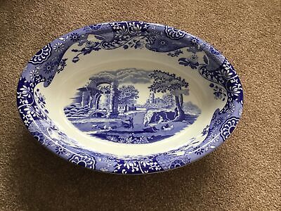 Spode Blue Italian Oval Serving Dish 12.5 X 9 X 2.75 Inches New • 44£