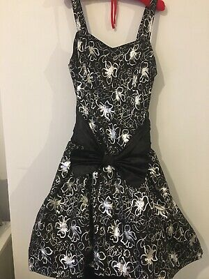 Ball Gown Size 12 Black & Silver. High Low With Net Underskirt. Shoulder Straps • 2.90£