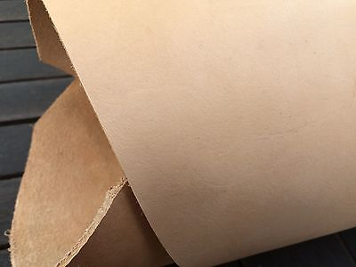 Vegetable Tanned Cow Hide Natural FG. Tooling Leather. 135 Cm X 20 Cm X 3.5 Mm • 16£