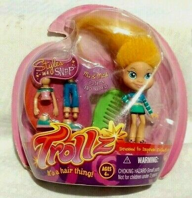 $ CDN19.30 • Buy Trollz Styles In A Snap Doll Set - New - Mix And Match Clothes And Shoes