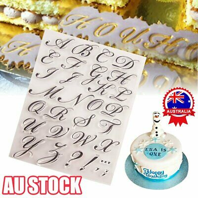 AU8.93 • Buy Fondant Cake Alphabet Letter Cookies Biscuit Stamp Embosser Mold Cutter Decor AU