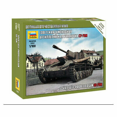 AU10 • Buy Zvezda 1/100 WWII Soviet SU-76 M Self Propelled Gun