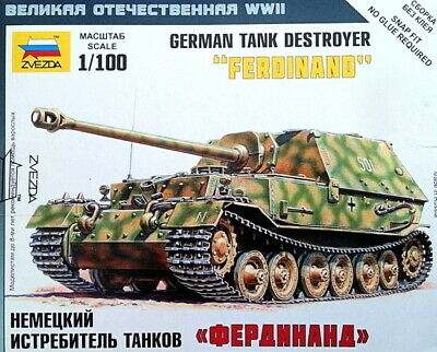 AU10 • Buy Zvezda Models 1/100 (Snap-Fit) German Tank Destroyer  Ferdinand