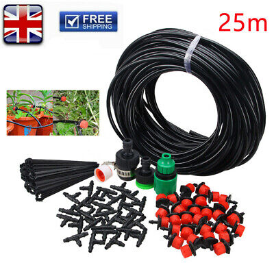 82ft Automatic Drip Irrigation System Plant Timer Self Watering Garden Hose Kit • 19.18£
