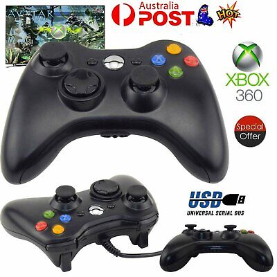 AU23.63 • Buy New Black Wired Controller For Xbox 360 Console USB Windows/PC AU STOCK