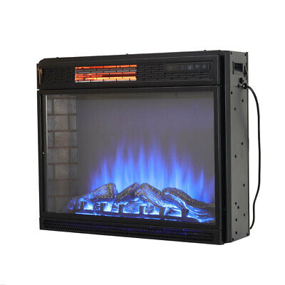 26  28  Electric Fireplace Stove LED Frame Fire Insert Heater Remote Control • 151.14£