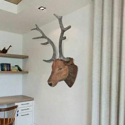 Wall Mounted Deer Head Stag Head Wall Hangings Wall Decoration Home Decor • 40.46£