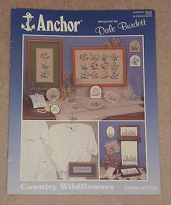 Anchor Cross Stitch Charts Leaflet Country Wildflowers Flowers Plants • 0.99£