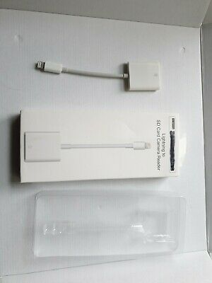 For Apple IPhone Lightning To SD Card Reader Adapter Cable.  Model No. NK105 • 10£
