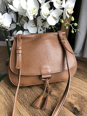 HOBBS London Brown Tassel Detail Leather Shoulder Crossbody Bag  • 65£