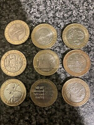 £2 Pound Coins Job Lot X 9 Two Pounds Circulated. • 14.50£