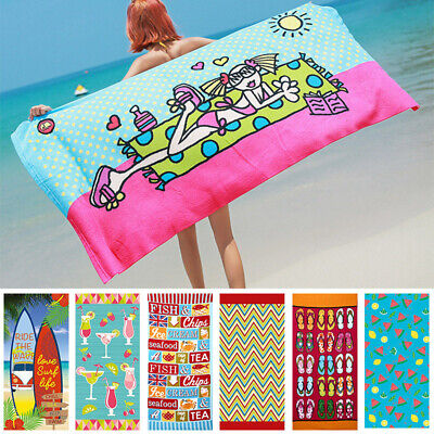 AU21.76 • Buy Ex Large Microfibre Sand-free Beach Towel Quick Dry Travel Bath Towel 70x150cm