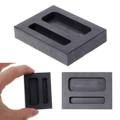 Graphite Crucible Ingot Mold Two Hole Silver Loaf Bar Metal Melting Casting Tool • 5.05£